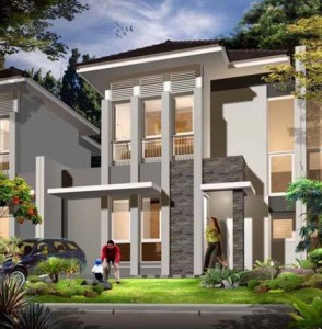 Contoh Desain Rumah Tingkat Dua Lantai-1
