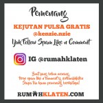 PEMENANG SPAM LIKE MEI 2018