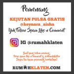 PEMENANG SPAM LIKE JULI 2018
