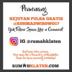 PEMENANG SPAM LIKE MEI 2019