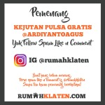 PEMENANG SPAM LIKE IG @RUMAHKLATEN SEPTEMBER 2020